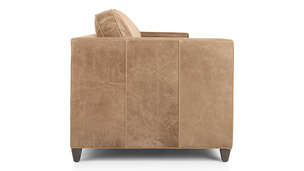 Dryden Leather Sofa Libby Mushroom Crate And Barrel