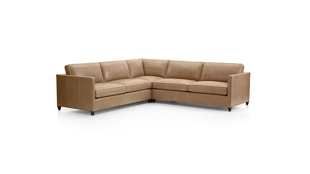 Dryden Leather 3-Piece Sectional