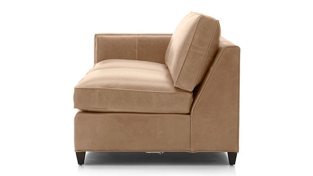 Dryden Leather Left Arm Apartment Sofa