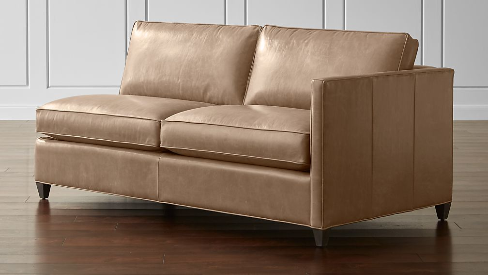 Dryden Leather Right Arm Apartment Sofa