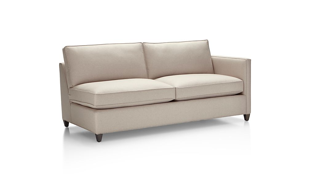 Dryden Right Arm Apartment Sofa Diamond Flax Crate And