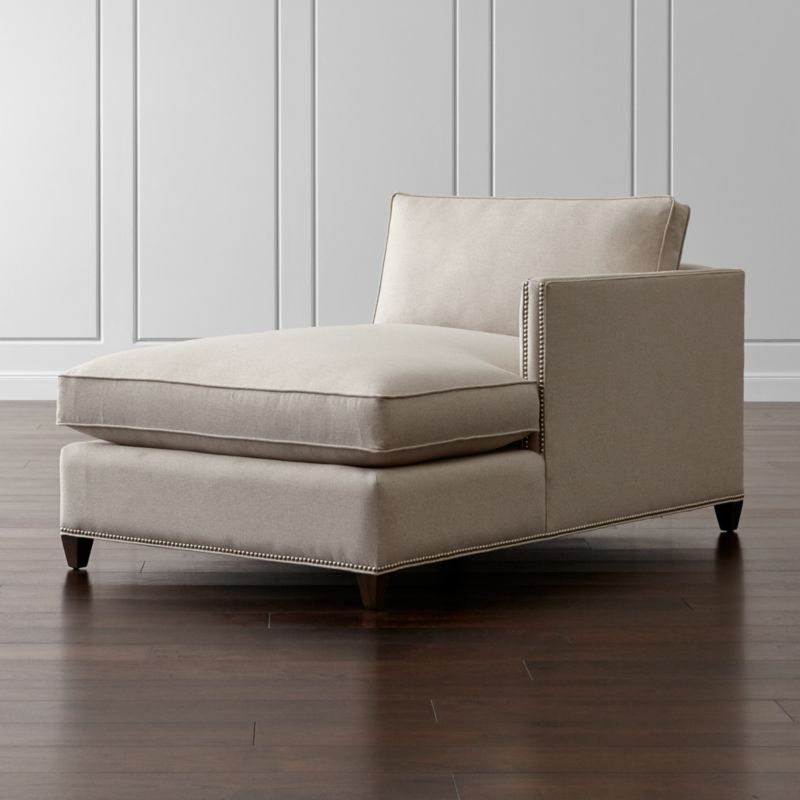 Dryden Right Arm Chaise with Nailheads