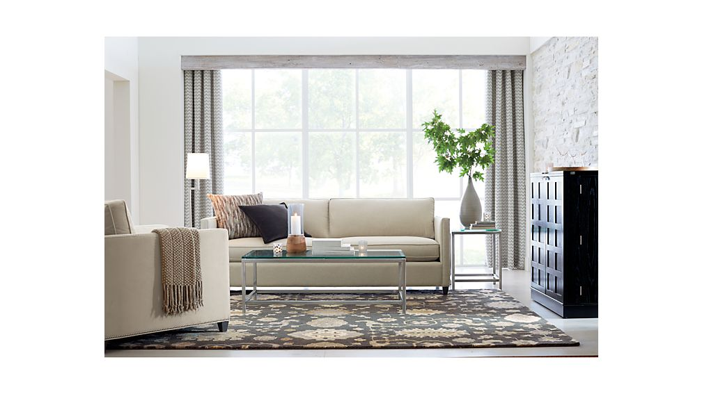 Dryden Grey Modern Sofa Crate And Barrel
