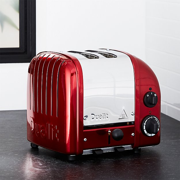 Dualit 2 Slice Candy Apple Red Toaster Crate And Barrel