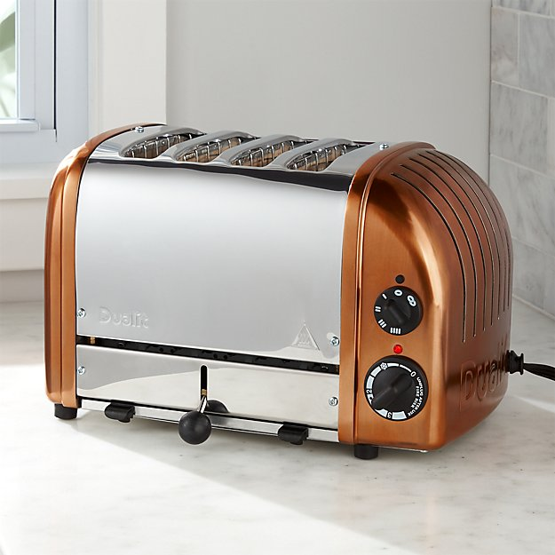 Dualit 169 4 Slice Copper Toaster Crate And Barrel