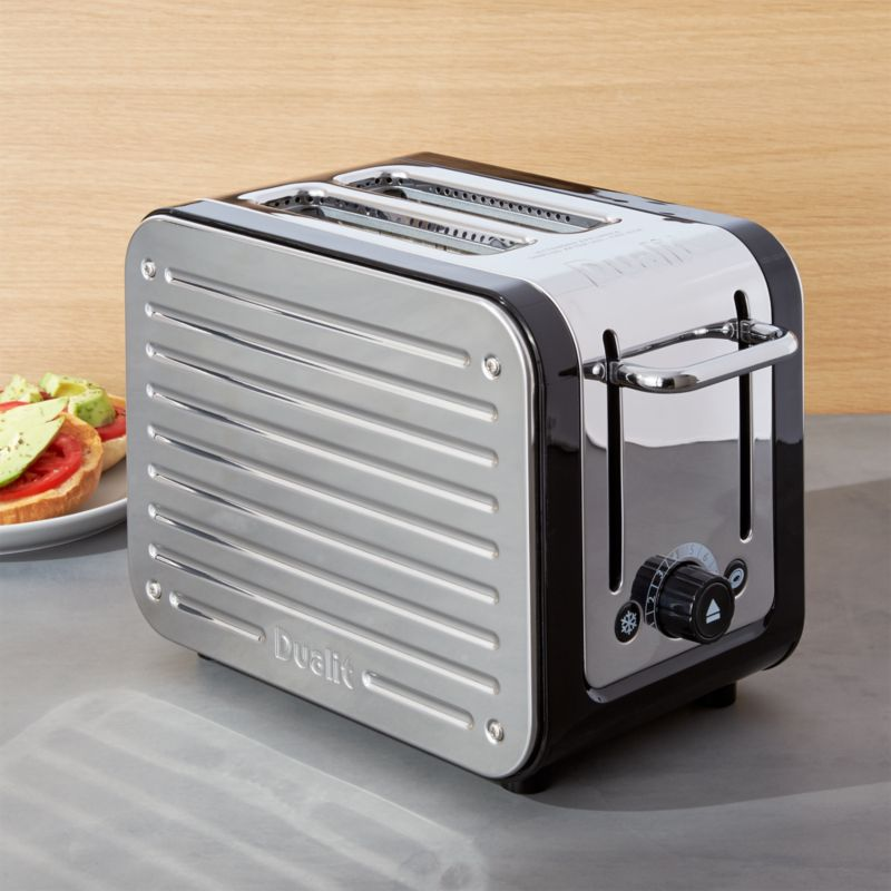 Dualit © Design Black/Stainless Steel 2-Slice Toaster