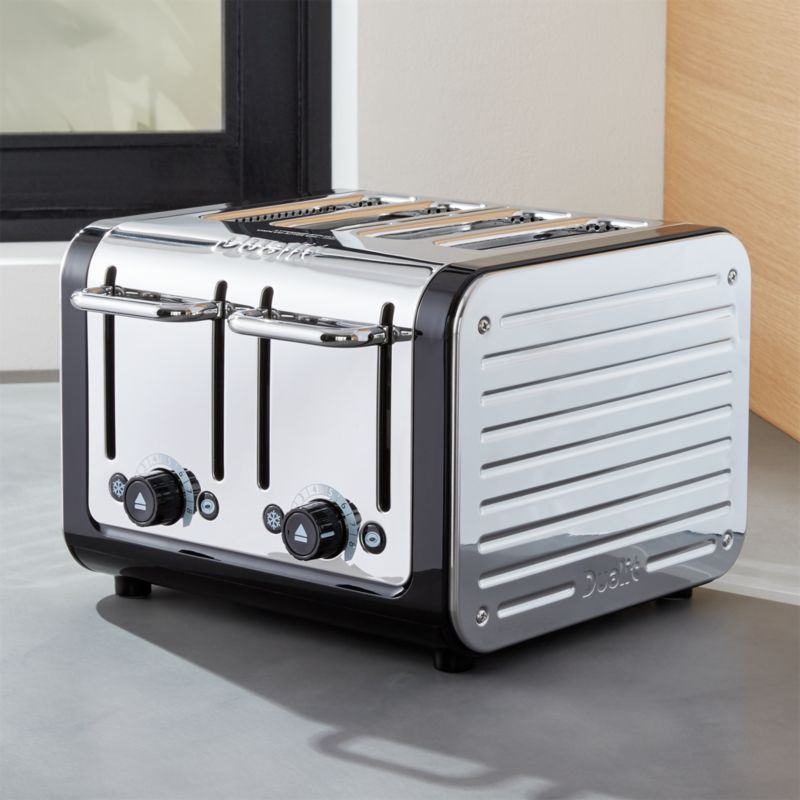Dualit © Design Black/Stainless Steel 4-Slice Toaster