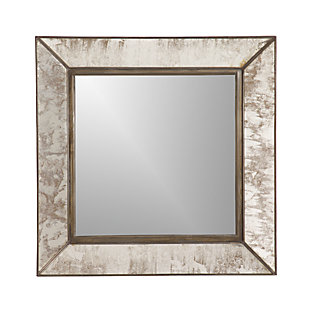 Dubois large square wall mirror crate and barrel for Big square wall mirror