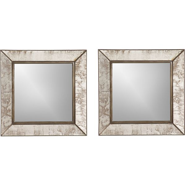 Set of 2 Dubois Small Square Wall Mirrors