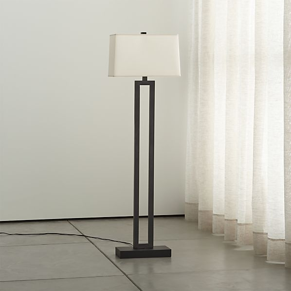 Duncan Antiqued Bronze Floor Lamp