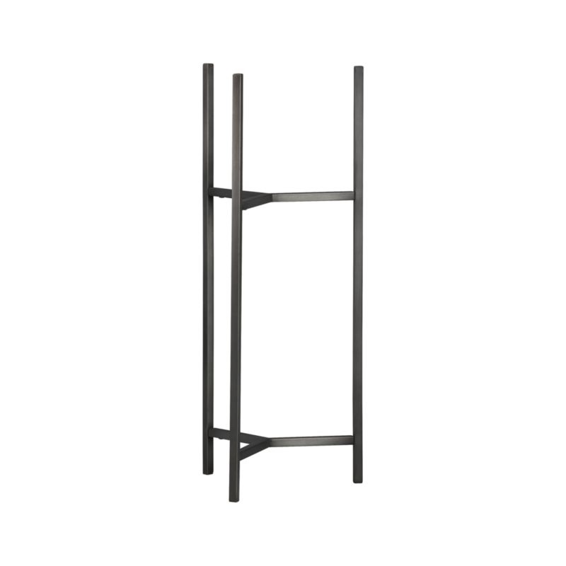 Handcrafted iron stand with a warm antiqued bronze finish frames our Dundee planter with slender legs and tripod crossbar supports.<br /><br /><NEWTAG/><ul><li>100% iron</li><li>Antique bronze finish</li><li>Made in India</li></ul>
