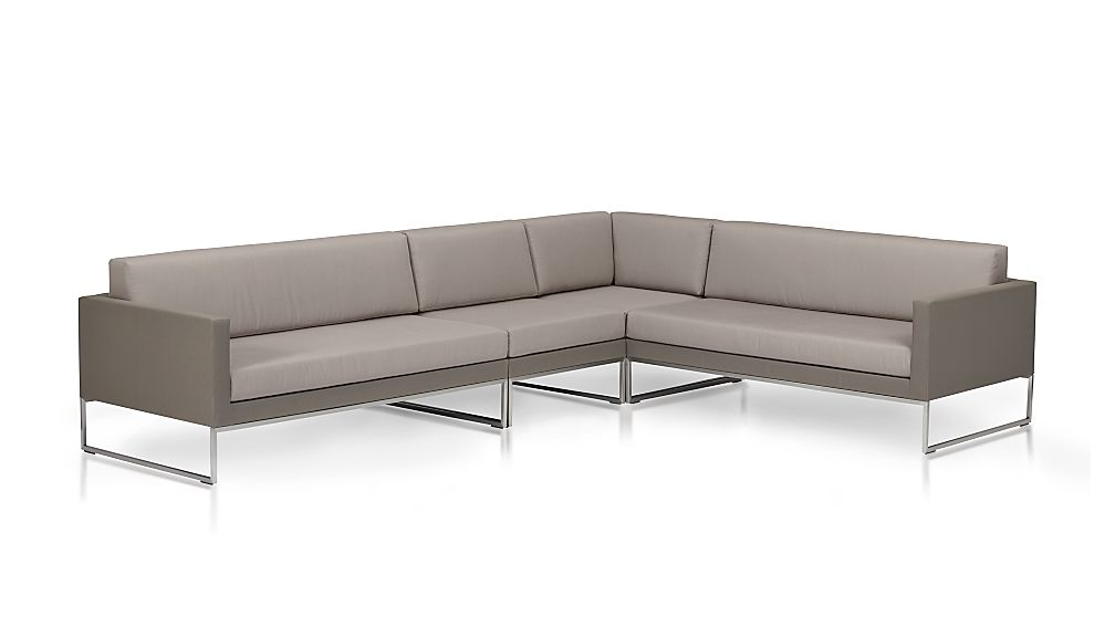 Dune 4-Piece Sectional Sofa with Cushions