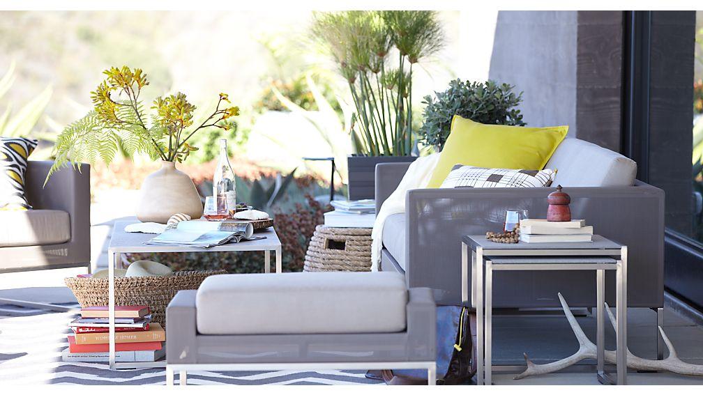 Dune Taupe Sofa with Sunbrella ® Cushions