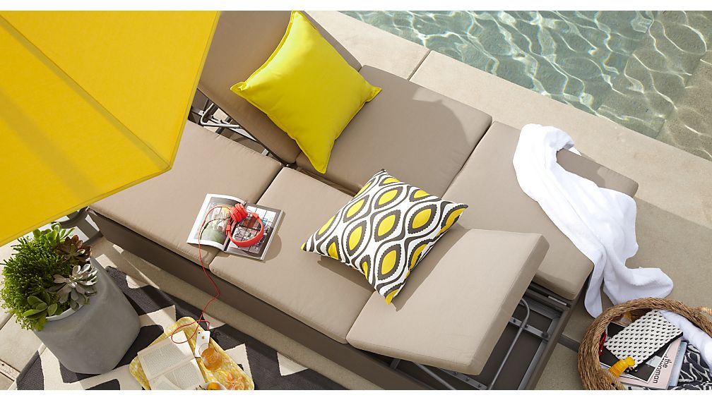 Dune Double Chaise Sofa Lounge with Cushions