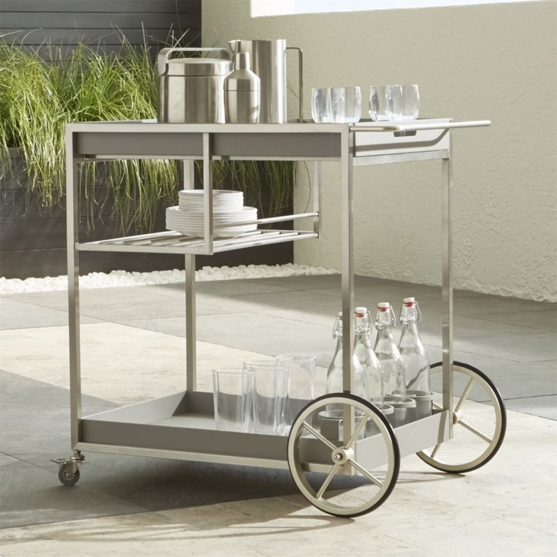Dune Bar Cart Crate And Barrel