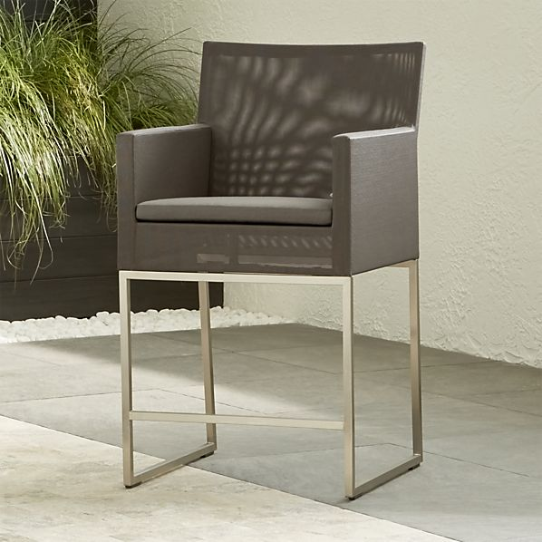"Dune Taupe 24"" Counter Stool with Cushion"