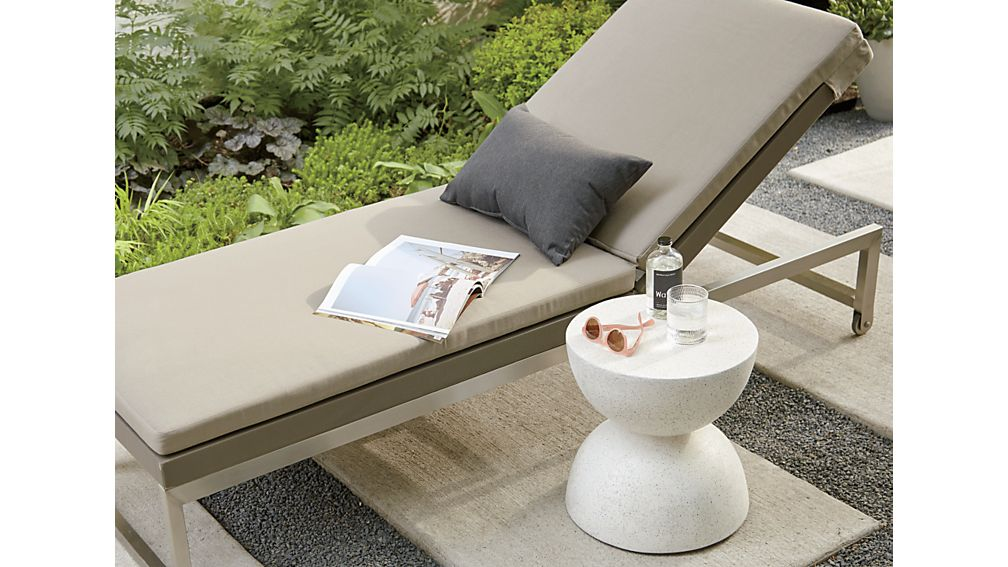 Dune Taupe Chaise Lounge with Sunbrella ® Cushion