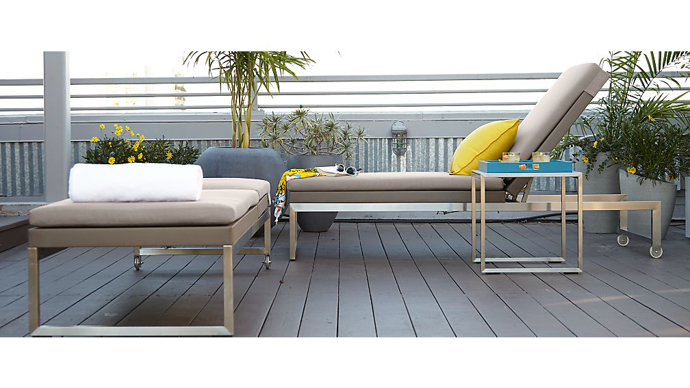 Dune Chaise Lounge with Cushion