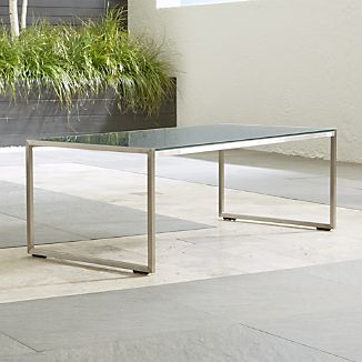 Dune Coffee Table with Painted Charcoal Glass