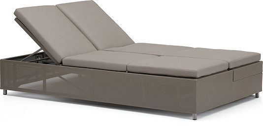 Dune collection modern patio furniture crate and barrel for Brighton taupe 3 piece chaise and sofa set