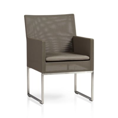 Dune Dining Chair with Sunbrella® Taupe Cushion