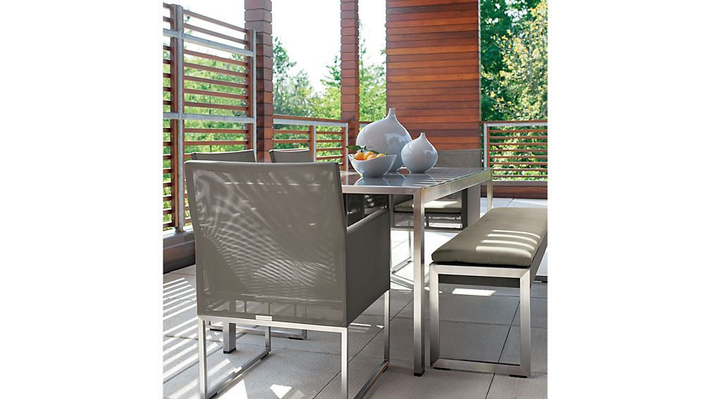 Dune Taupe Dining Chair with Sunbrella ® Cushion