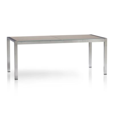 Dune Rectangular Dining Table with Glass