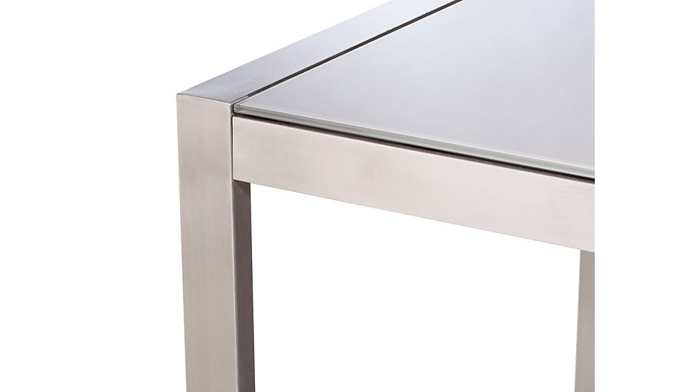 Dune Rectangular Dining Table with Painted Glass