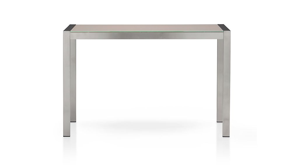 Dune High Dining Table with Painted Glass