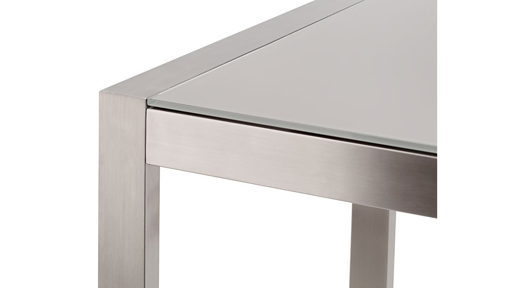 Dune High Dining Table with Taupe Painted Glass
