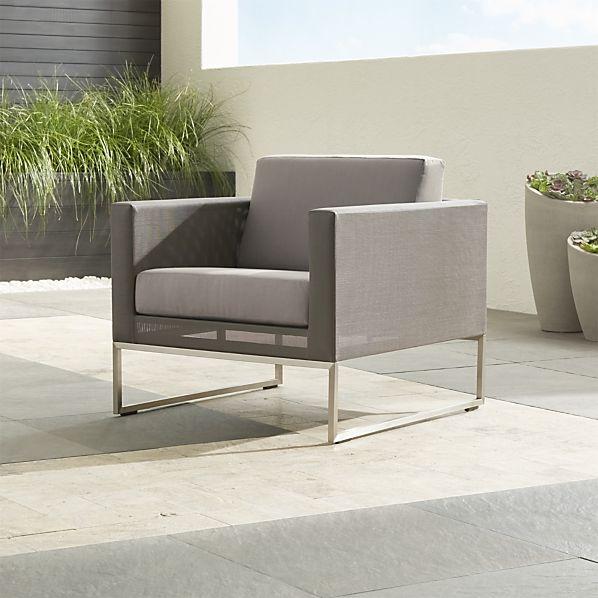 Dune Lounge Chair with Sunbrella ® Taupe Cushion
