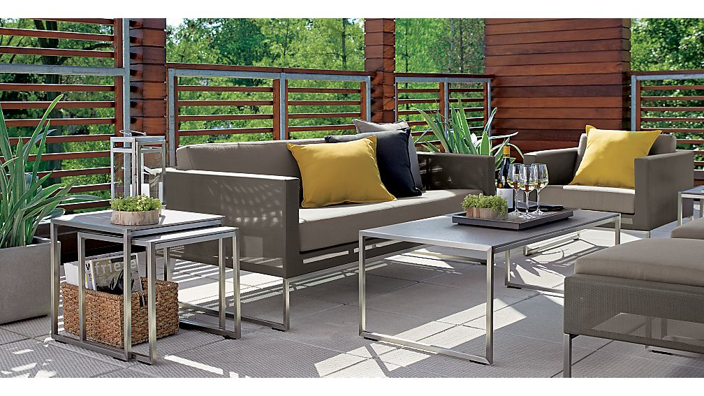 Dune Taupe Lounge Chair with Sunbrella ® Cushions