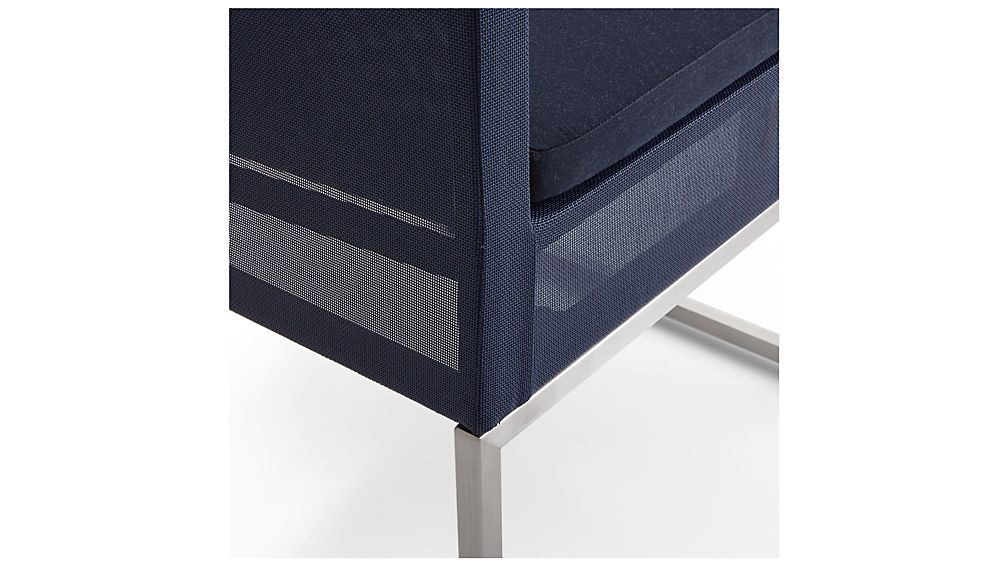 Dune Navy Dining Chair with Sunbrella ® Cushion