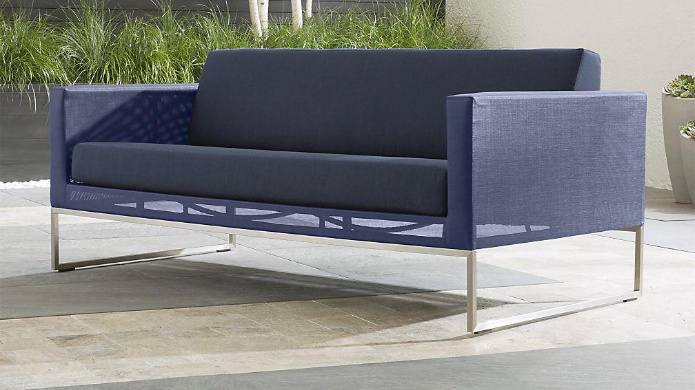 Dune Navy Sofa With Sunbrella ® Cushions Sunbrella: Navy