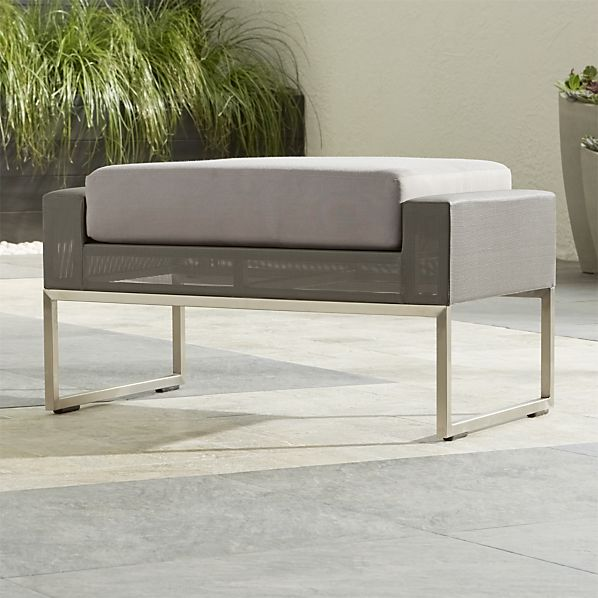 Dune Taupe Ottoman with Sunbrella ® Cushion