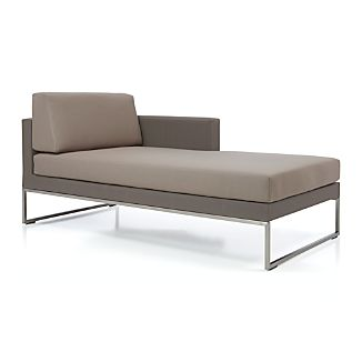 Dune Right Arm Chaise with Cushions