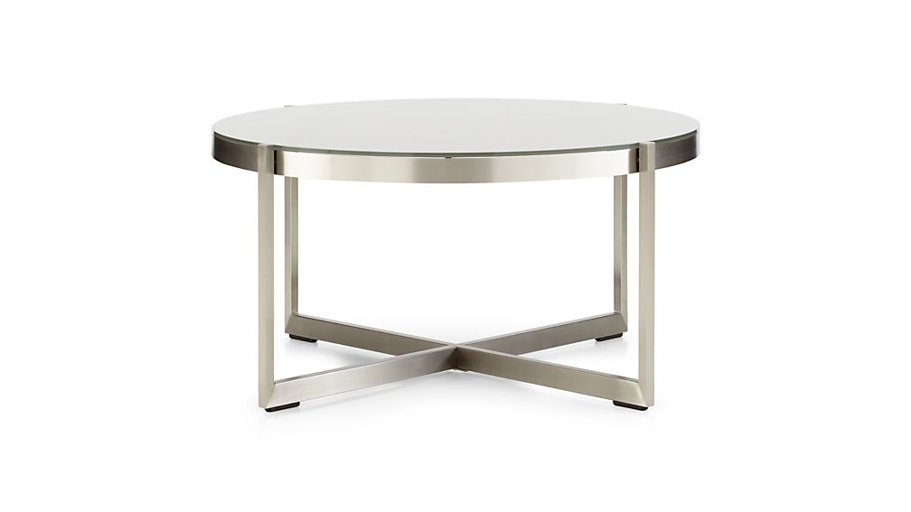 Dune Round Coffee Table with Painted Glass