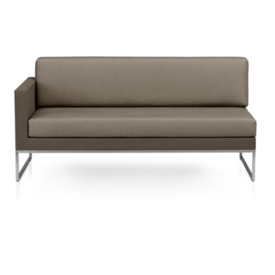Dune Sectional Left Arm Loveseat with Sunbrella® Taupe Cushions