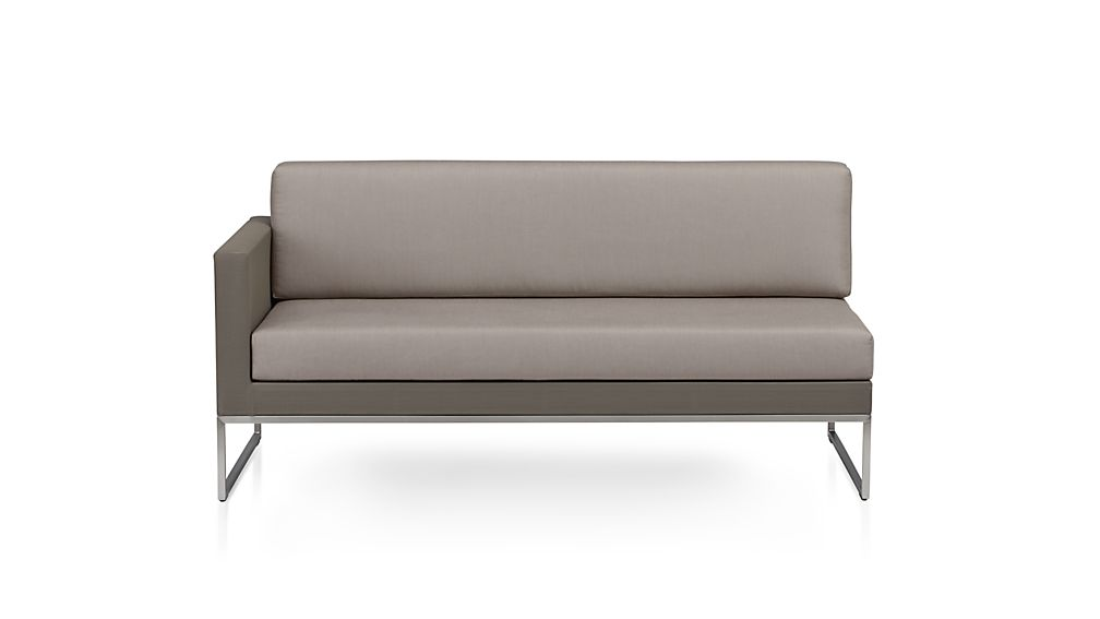 Dune Left Arm Loveseat with Cushions