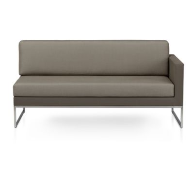 Dune Sectional Right Arm Loveseat with Sunbrella® Taupe Cushions