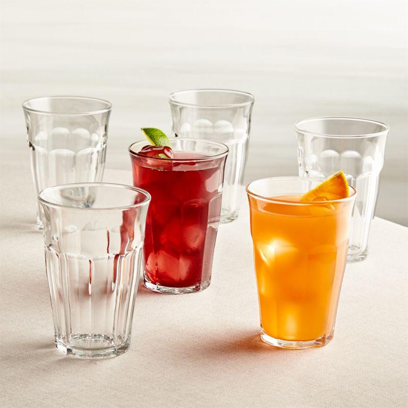 Duralex ® Picardie 12.5 oz. Glasses Set of 6