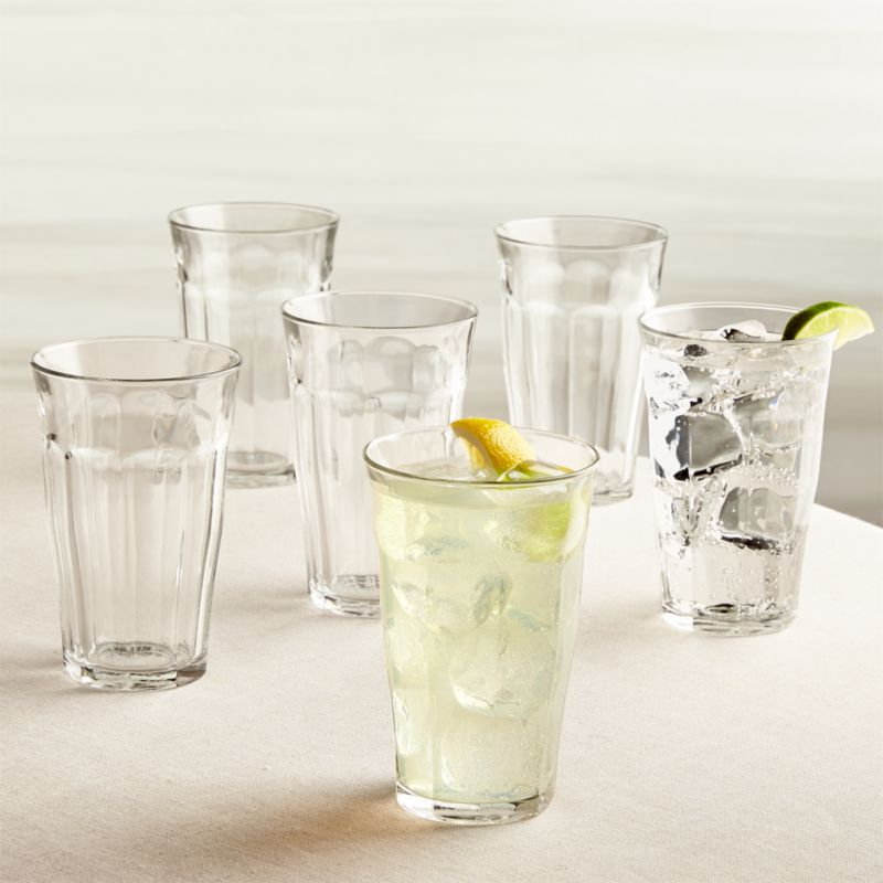 Duralex ® Picardie 17.5 oz. Glasses Set of 6
