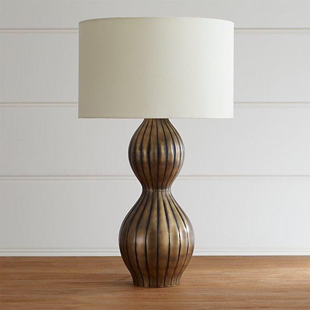 duren table lamp crate and barrel. Black Bedroom Furniture Sets. Home Design Ideas