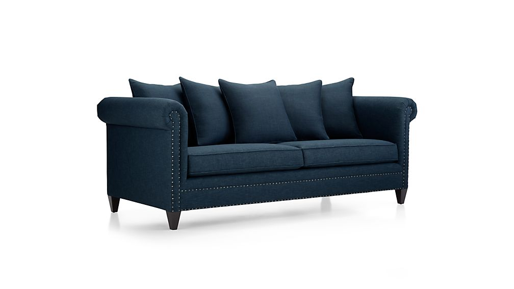 Durham Sofa Sapphire Crate And Barrel