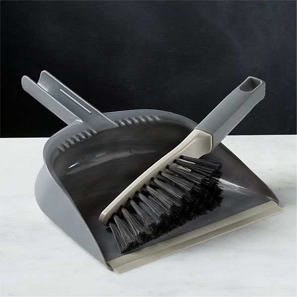 Casabella ® Grey Dustpan and Brush Set