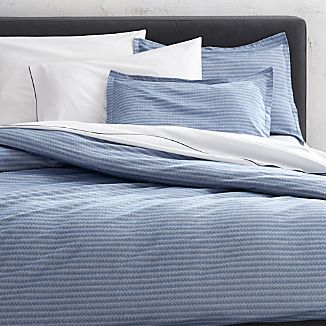 Dylan Blue Twin Duvet Cover and Pillow Shams