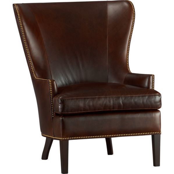 Dylan Leather Wingback Chair