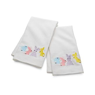 Set of 2 Easter Bunnies Dish Towels