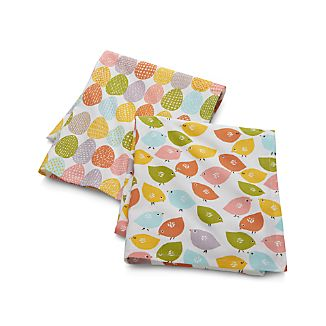 Set of 2 Chick 'n' Egg Dish Towels
