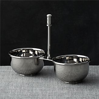 Easton 2-Part Stainless Steel Server